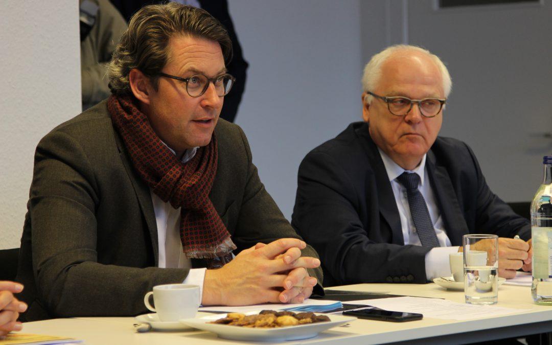 PRESSEMITTEILUNG – Bundesminister Andreas Scheuer zu Gast beim ZDS